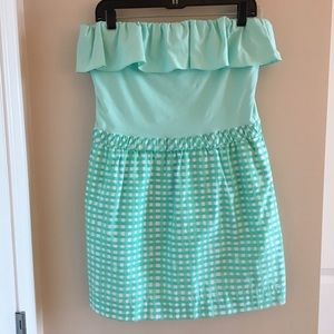 Lilly Pulitzer Strapless Cotton Dress - L